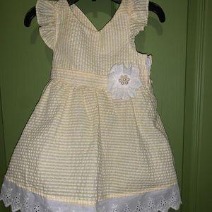 Bonnie Baby 18-24M Yellow and White Girls Dress